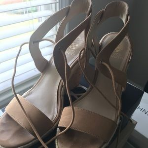Vince Camuto Tan Sandals with wedge, Sz9